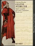 Giacomo Puccini, Ricordi  - Gianni Schicchi - Opera Vocal Score (Italian / English)